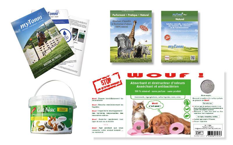 Ewp<br/><span>Plaquette commerciale My Tonni.  Étiquettes packaging : WOUF et Cat&Nac</span>