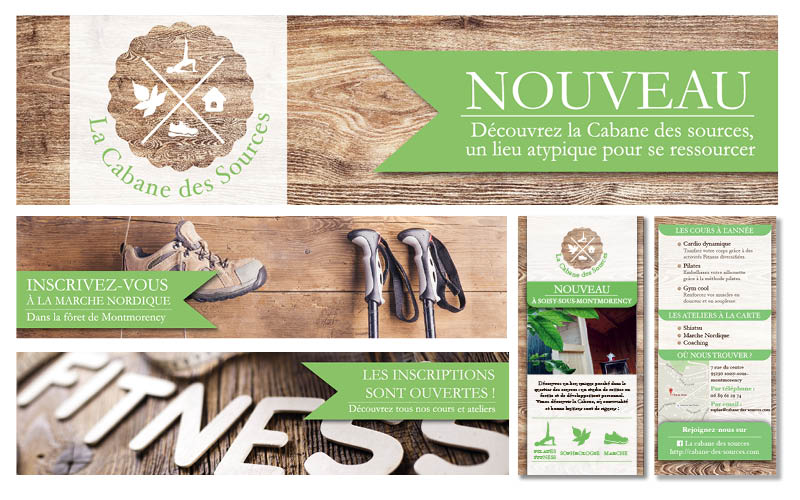 La Cabane des Sources<br/><span>Création de bannières web et de flyer.</span>