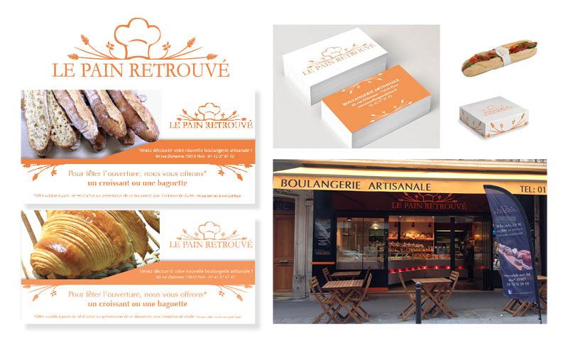 Le pain Retrouvé<br/><span>Flyer pour la boulangerie artisanale