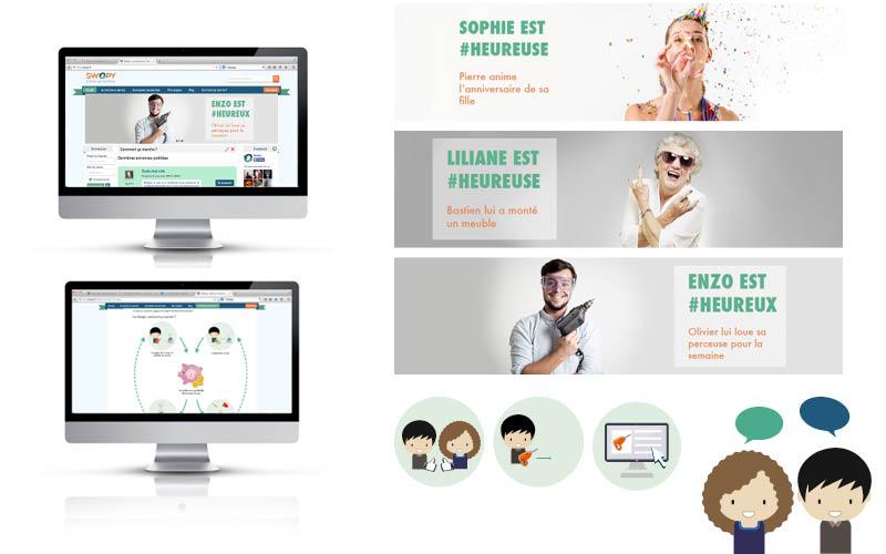 Swopy<br/><span>Création de bannière et d'illustration pour site web.</span>