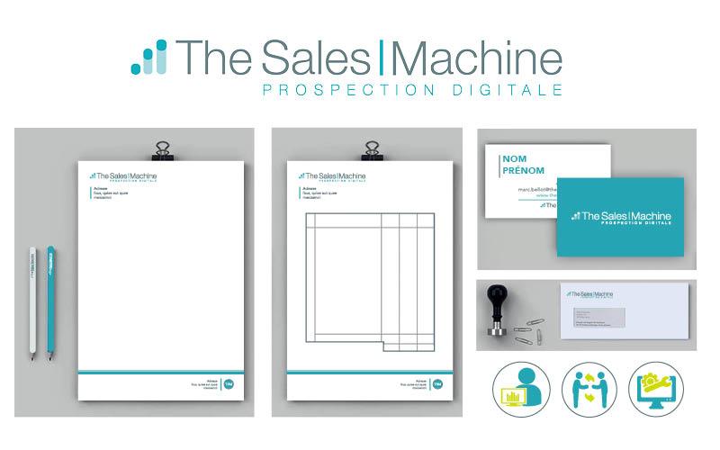 The sales machine<br/><span>Création de charte graphique et refonte de logo.</span>