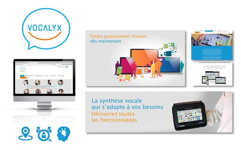 Vocalyx<br/><span>Refonte du site internet : slide, pictogrammes, boutons ...</span>