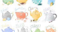 Tea time - Prune illustration