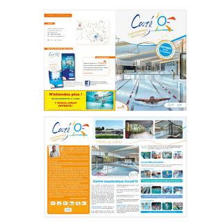 Brochure pour l'ouverture du centre aqualudique Couzé'O