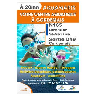 Panneau routier pour le centre aquatique Aquamaris