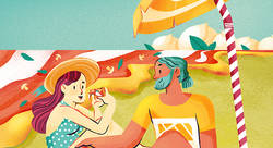 La plage de pizza - Ramona Bruno-illustrateur
