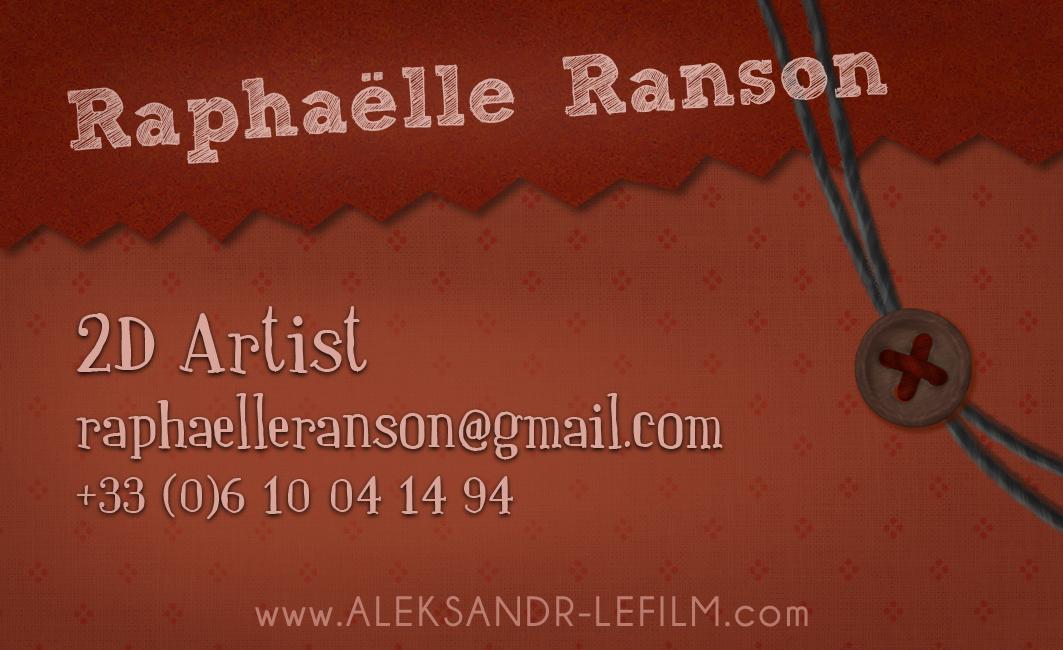 Raphaelle Ranson Informations Carte De Visite