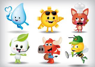 illustration de mascottes