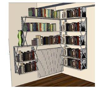 Esquisse avant réalisation de la bibliothèque