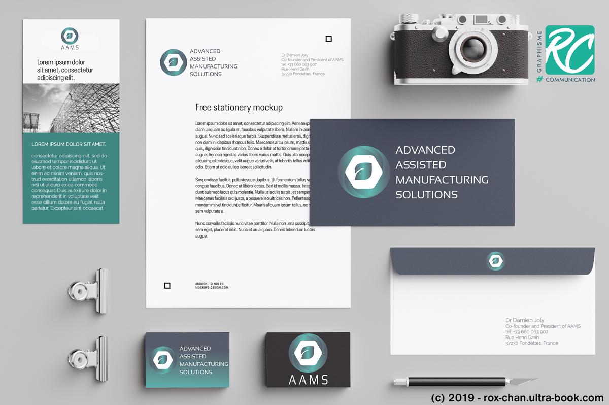 Charte graphique et identité visuelle AAMS By roxane chanpao graphic designer