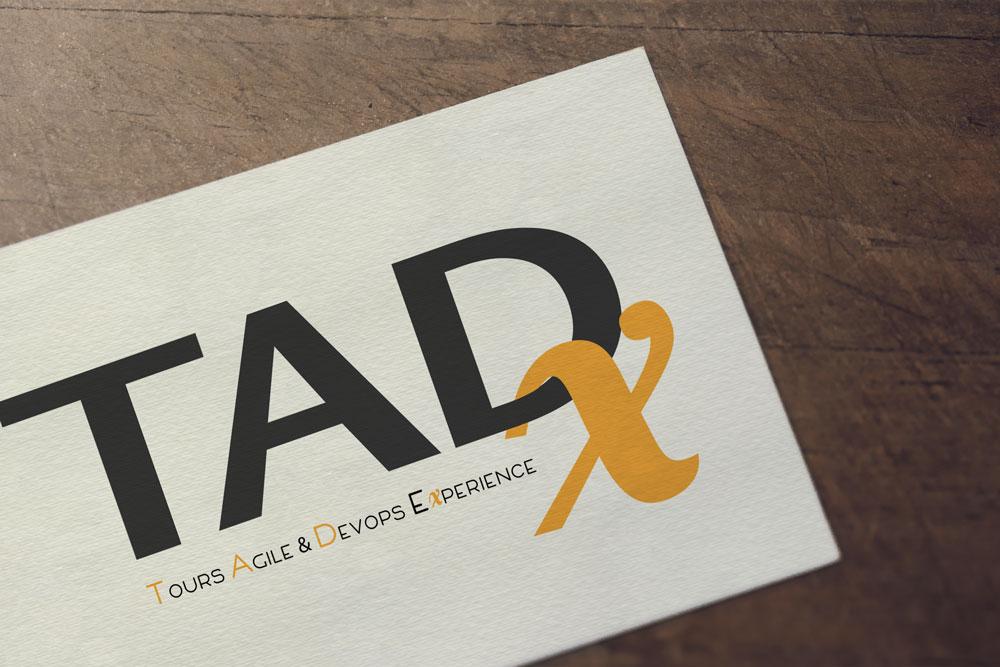 Logo TADx by roxane chan pao graphic designer Tours