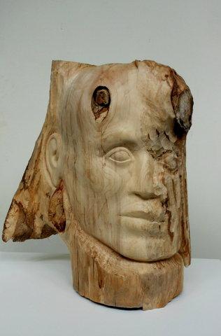 Tendre l'oreille - bois, taille directe -2014
