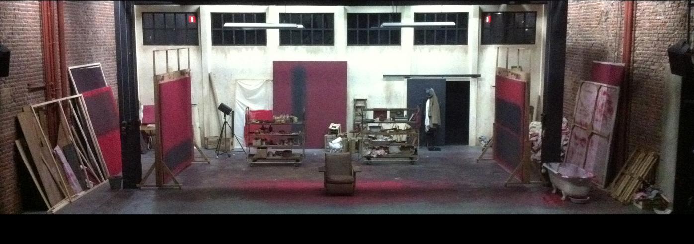 Scénographie de RED / théâtre Le Public / 2012