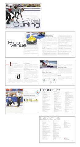 Brochure curling