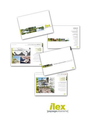 DESIGN GRAPHIQUE  pour ILEX [paysage & urbanisme]