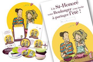 DESIGN GRAPHIQUE  /  DA pour MOULINS NICOT - Artisans Boulangers