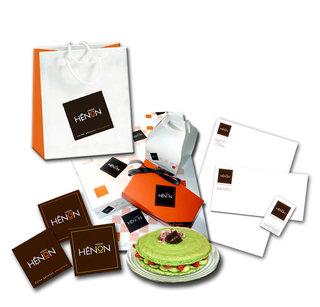 DESIGN GRAPHIQUE POUR FREDERIC HENON  [pâtissier/chocolatier]