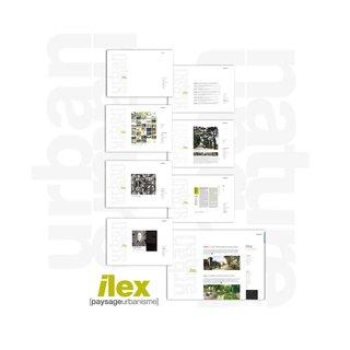 DESIGN GRAPHIQUE  pour ILEX / PAYSAGES ET URBANISME > site internet et blog 2013