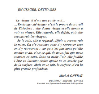 TEXTE DE MICHEL ONFRAY POUR MON EXPOSITION