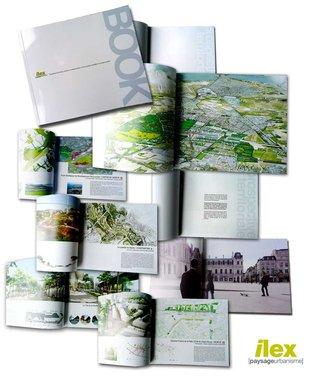 DESIGN GRAPHIQUE  pour ILEX  / PAYSAGES ET URBANISME > BOOK D'AGENCE