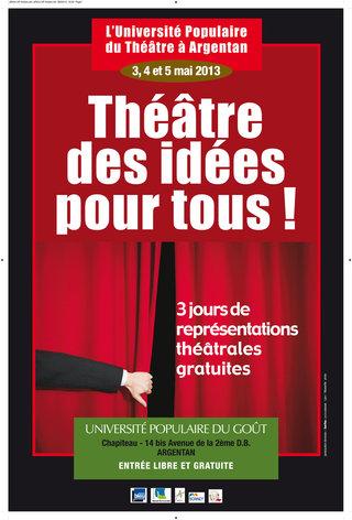 DESIGN GRAPHIQUE  pour Michel ONFRAY > Université Populaire du Théâtre