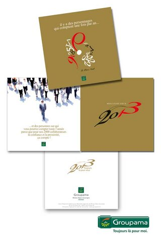 "DESIGN GRAPHIQUE  pour GROUPAMA R.A. V""ux 2013"