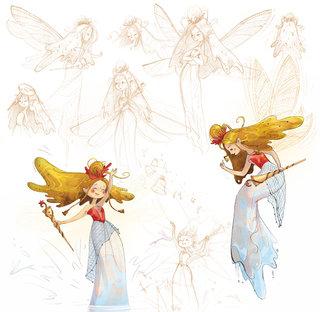 La fée du lac - character design