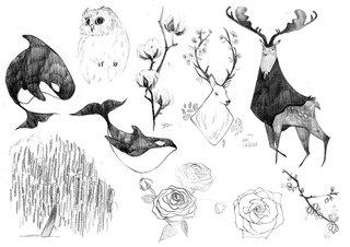 Planche de caricatures animaux/nature