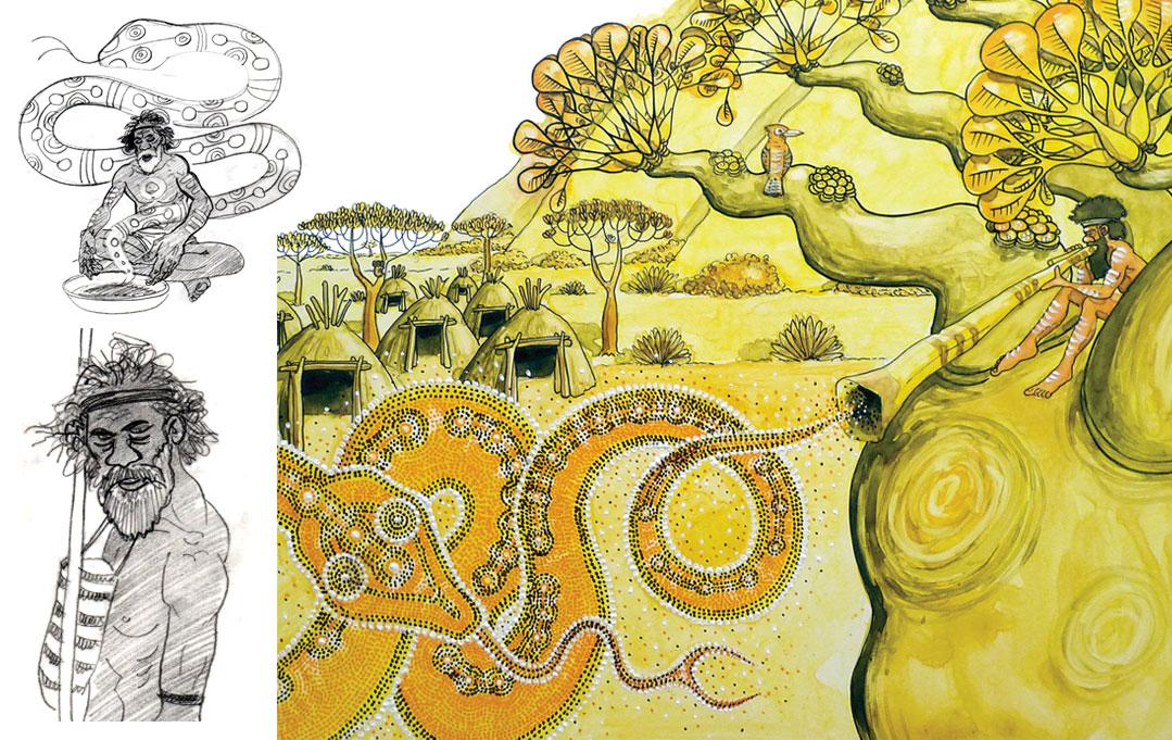 Le temps du rêve et le Serpent Arc-en-ciel !