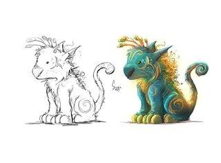 Groar - avant et après