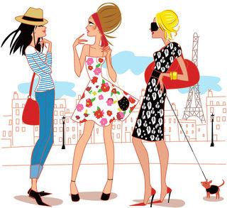 3 filles à Paris
