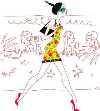 Illustration pour le magazine Elle India