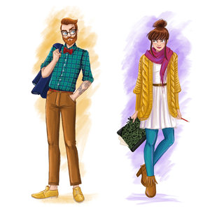 couple de hipster