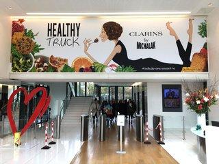 Clarins - le Healthy-truck avec Christophe Michalak