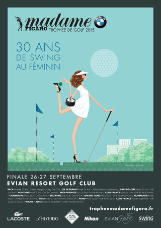 Affiche Figaro Madame / Trophée de Golf 2015