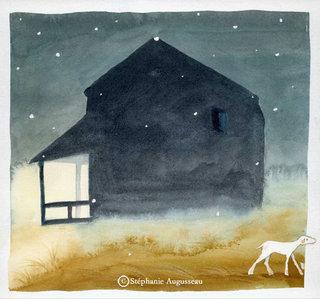 Le mouton, aquarelle.