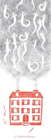 Linogravure et mine de plomb
