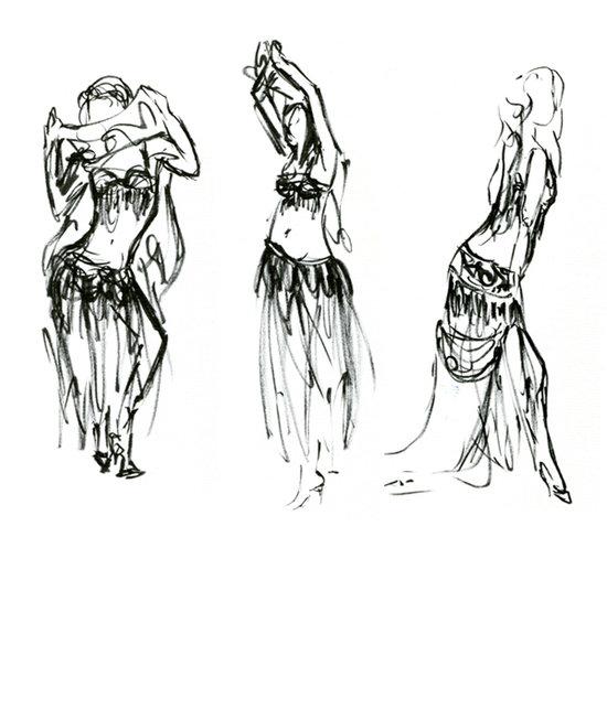 St phanie dos reis portfolio dessin - Danseuse orientale dessin ...