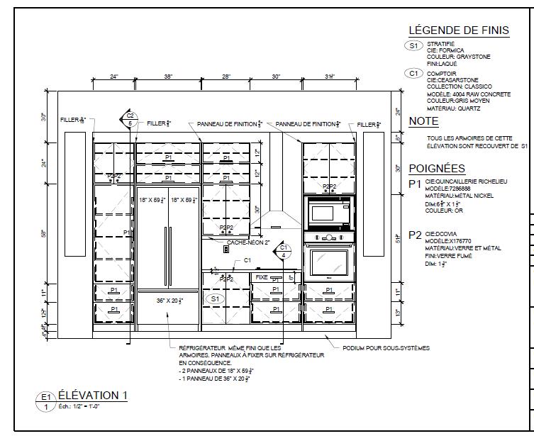 nice plan technique cuisine images votre cuisine sur mesure augier vaison la romaine ultra. Black Bedroom Furniture Sets. Home Design Ideas