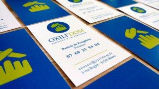 Logo Oxili'dom, carte de visite