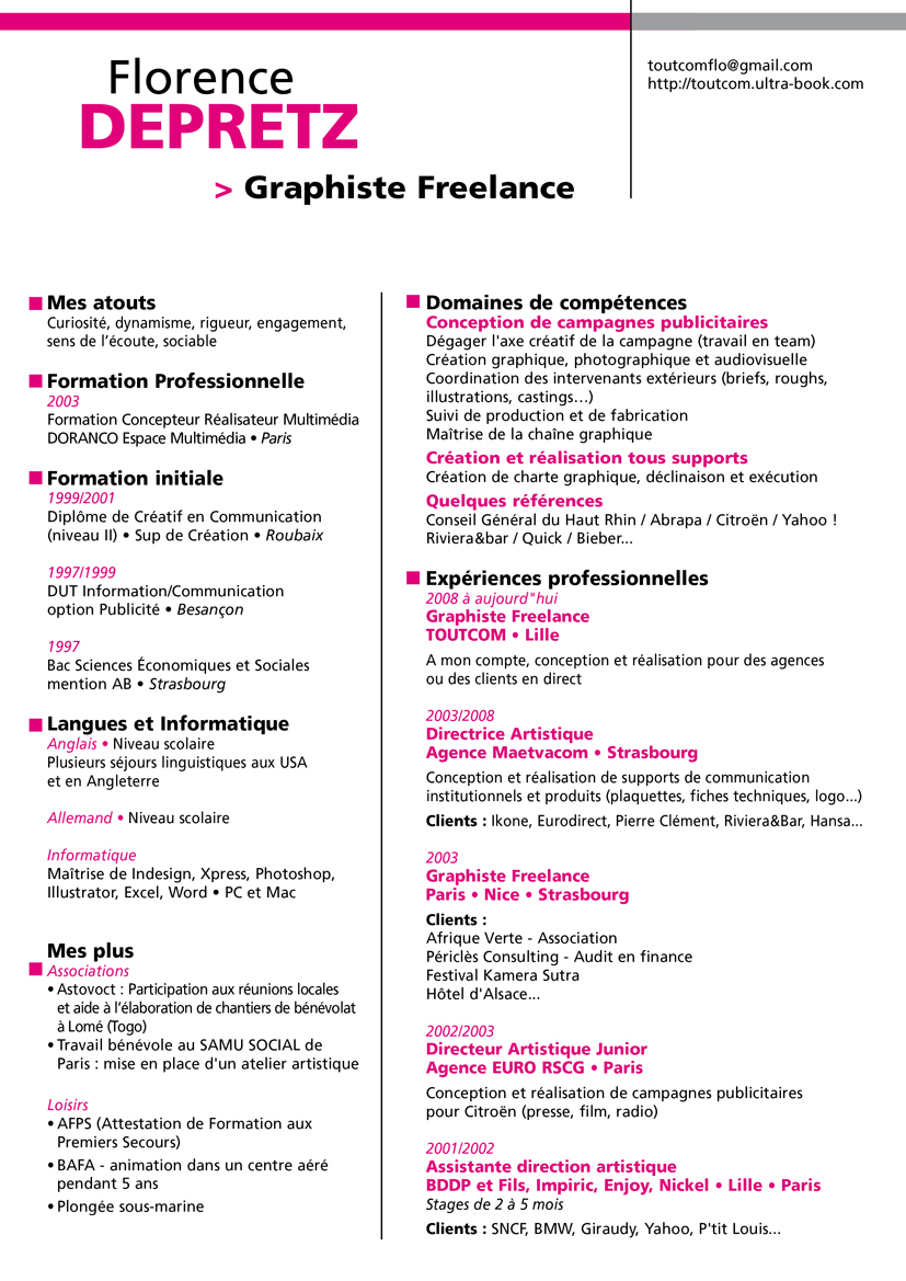 cv graphiste freelance ad78