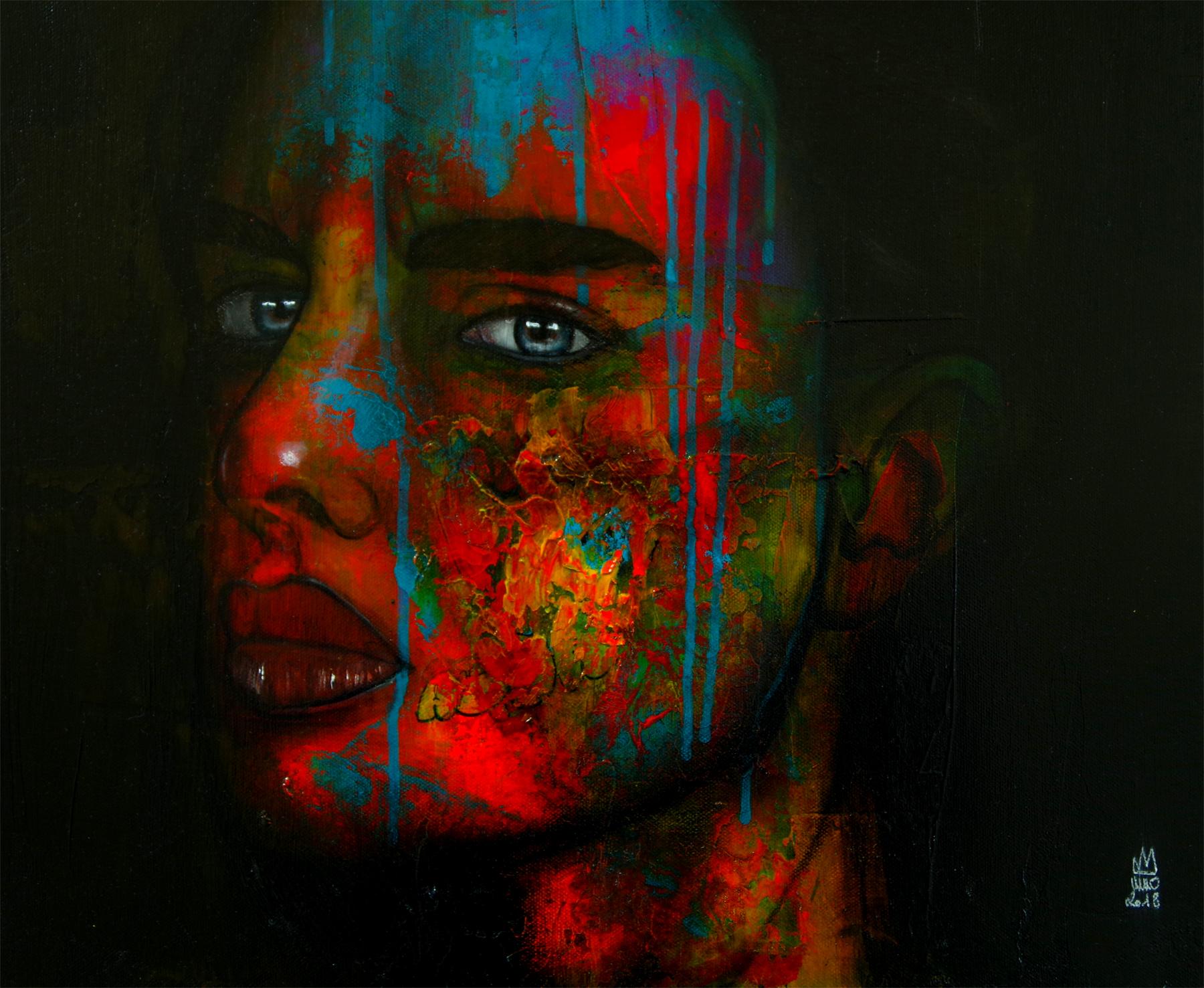Femme au regard mélancolique