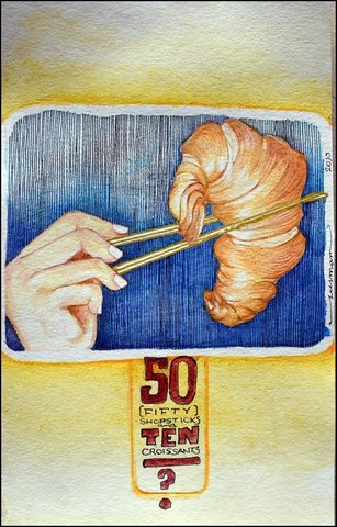 Fifty shopsticks & ten croissants
