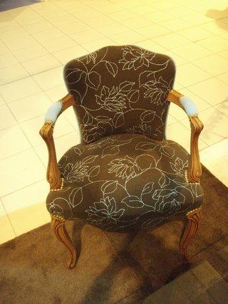 Relooking d'un fauteuil Louis XV