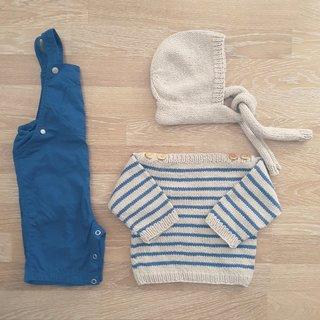 Modeles de Marinière et béguin pour bebe ene tricot