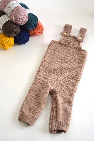 Salopette tricot bébé Ariel