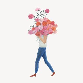 Pink flowers, Logo de la fleuriste Rosa Poesy