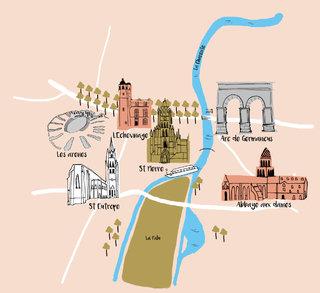 Illustration pour la ville de Saintes