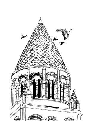 Abbaye aux dames, illustration pour la ville de Saintes