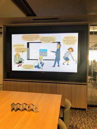 visuel pour un fond d'écran de la surface hub de chez Microsoft